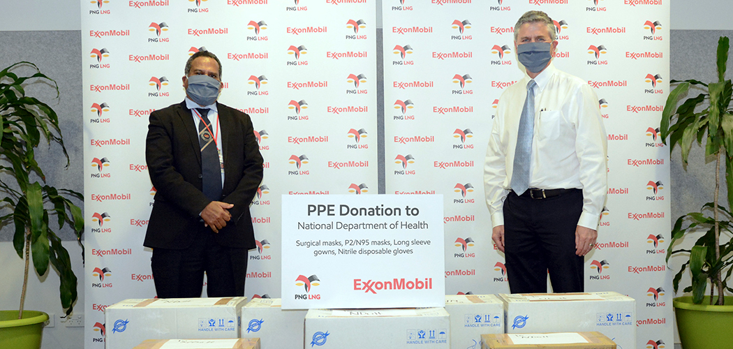 ExxonMobil PNG donates PPE to National Department of Health's frontline officers